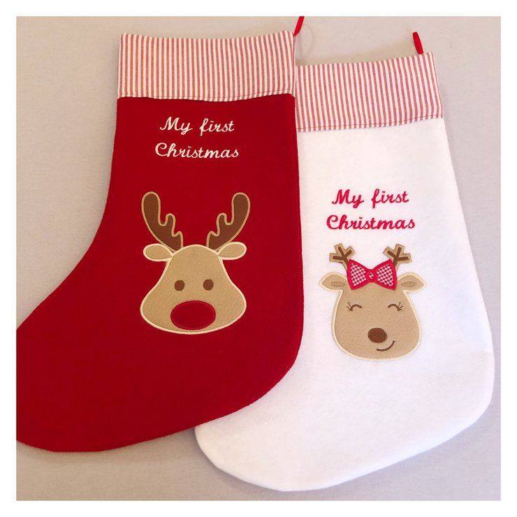 My first Christmas felt stocking by Wishfull Thinking