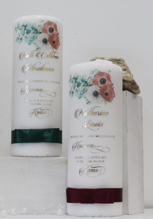 Memorial poppy candle-foiled by Timeless Memories