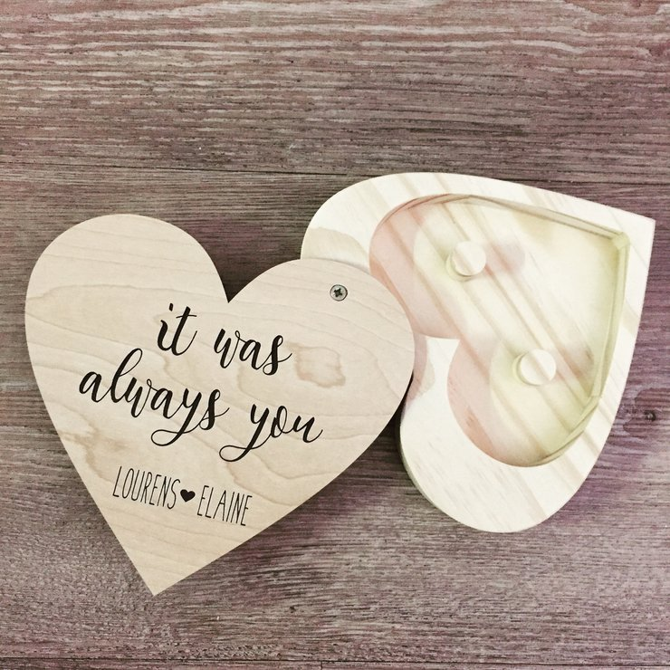 Personalised It was always you Heart Ring Holder   by Polkadot Box