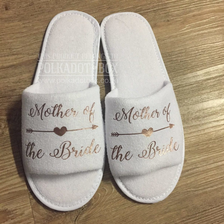 Mother of the Bride Slippers by Polkadot Box