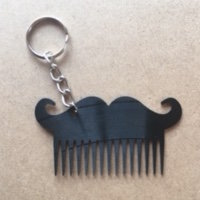 BEARD COMB KEYRING (M0245) by Miss Magpie