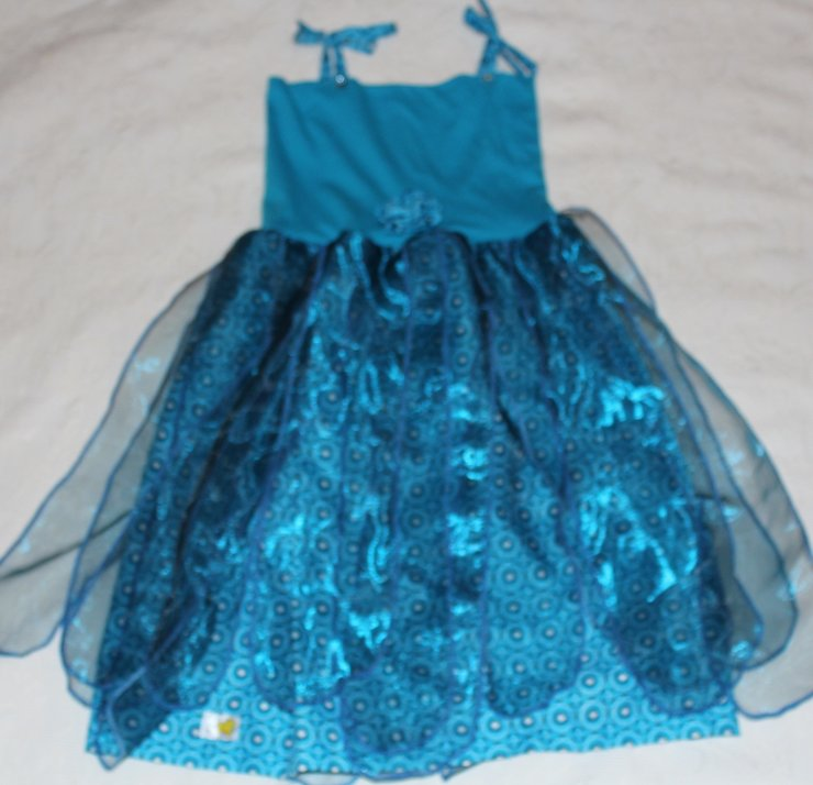 Fairy dress for little girls with African print fabric and organza Age 4-5 by JaxStar Handmade Clothing and Home