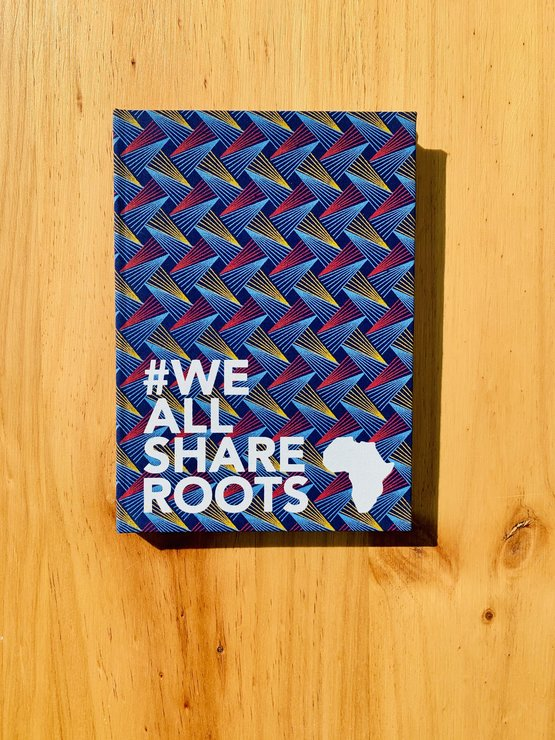 Shweshwe Notebook - Triangle by We All Share Roots
