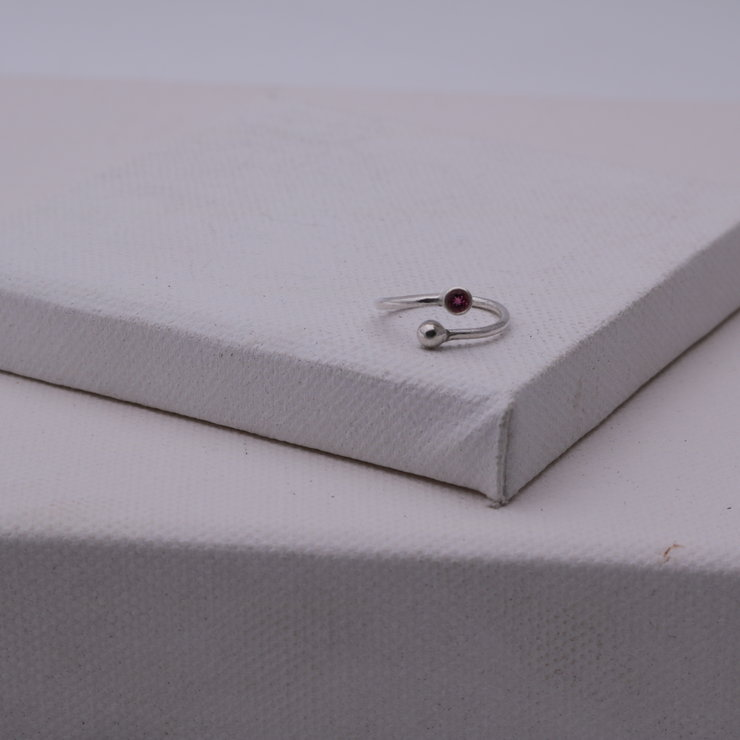Garnet birthstone ring by Charli Design Studio