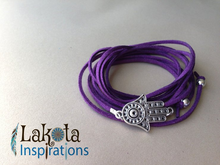 3-in-1  Hamsa Hand Necklace/Bracelet/Anklet by Lakota Inspirations
