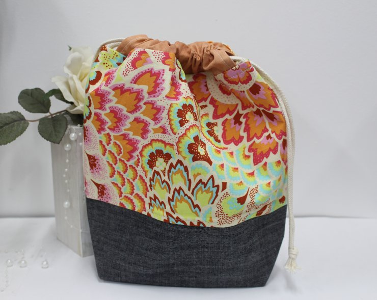 FABRIC DRAWSTRING BAG -SML-3 by Timeless Memories