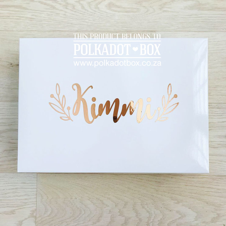Gloss Custom Cardboard Box  by Polkadot Box