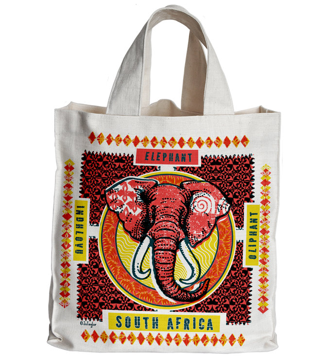 'Indhlovu' Tote Bag red by The Natural Hand