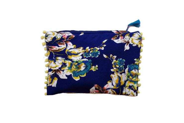 Ink Floral Print Travel Purse by cover me pretty
