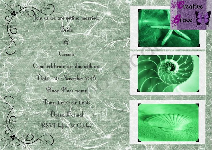 Digital Wedding invitation by Creative Grace