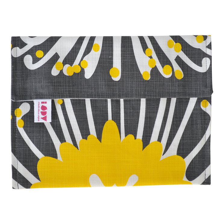 """Giant Pin"" iPad cover in sunshine and charcoal by i Spy"