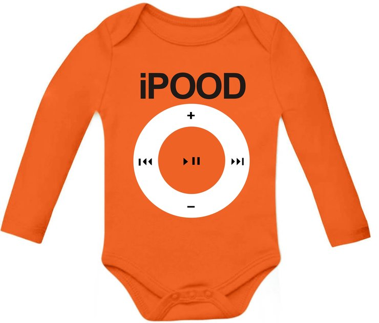 IPOOD - orange baby grow by Qtees Africa (Pty)Ltd