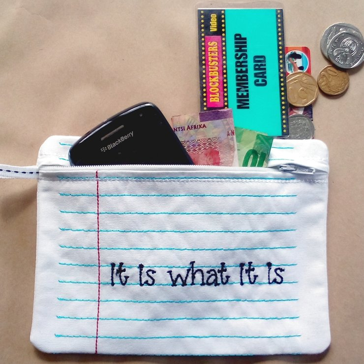 It is what it is embroidered bag by Thats so ME!