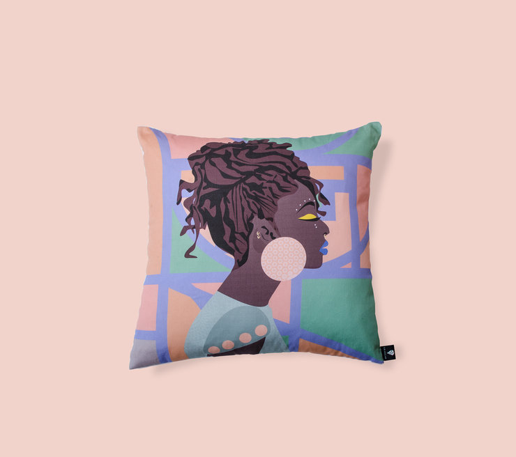 Thando scatter cushion by Lulasclan