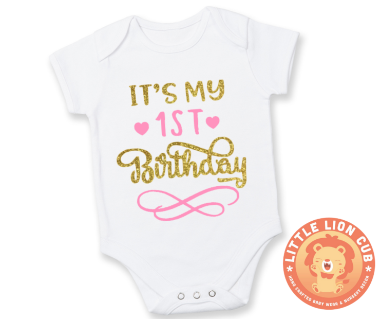 It039s My FIRST Birthday Outfit 1st Baby Girl
