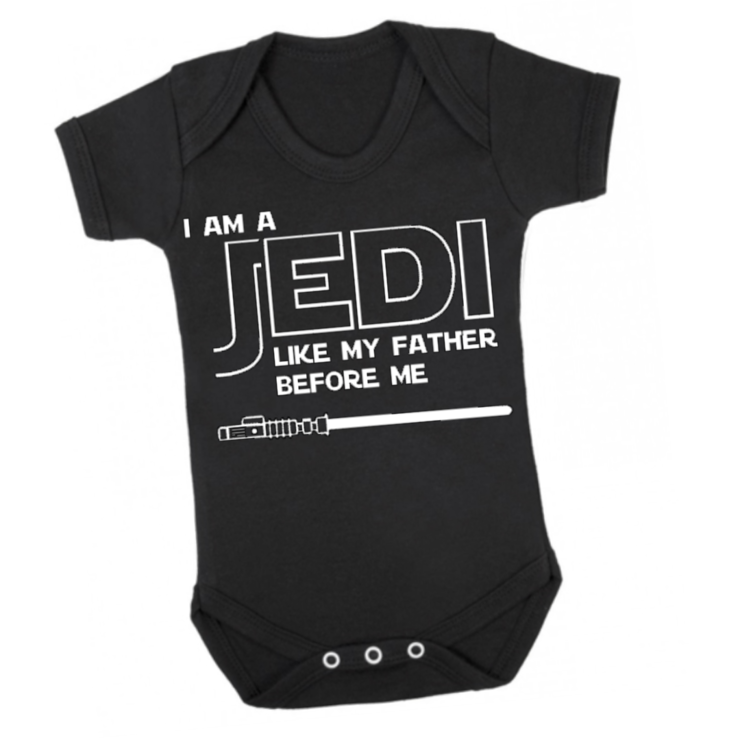 Star Wars Jedi Baby Grow Onesie Grower Bodyvest Baby