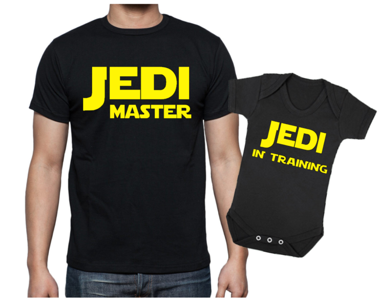 e936f737 STAR WARS JEDI Master Father and baby COMBO - Jedi Master - Jedi in  training - Star Wars baby ...