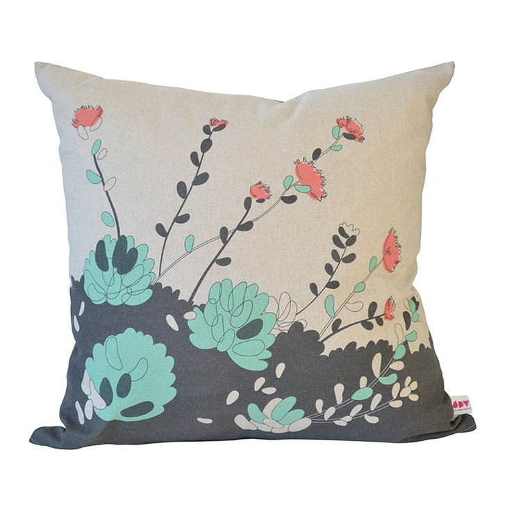 """Jellybeans"" cushion cover in mint, papaya and charcoal by i Spy"