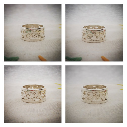 Handmade sterling silver custom vintage family ring by GloveJewellery