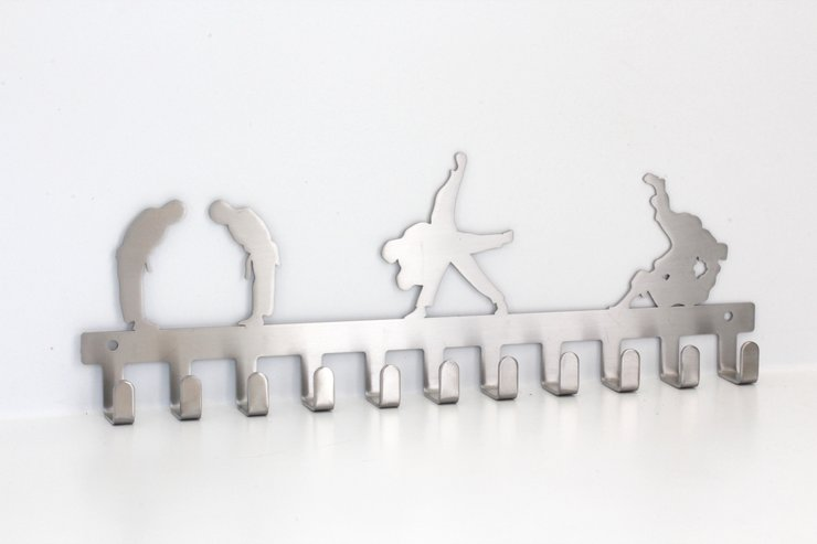 Judo Keyhook in Stainless steel brush finish by Medal Hanger & Home Décor Specialists - DC Designers