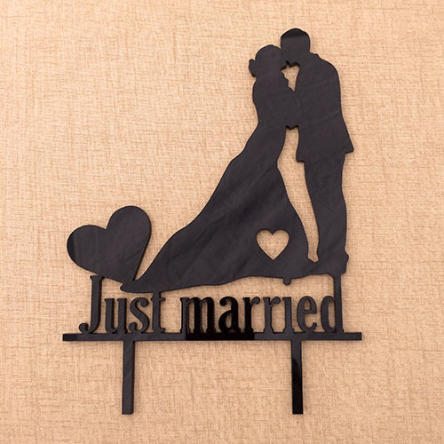 Cake Topper - Just Married by Laser Creations
