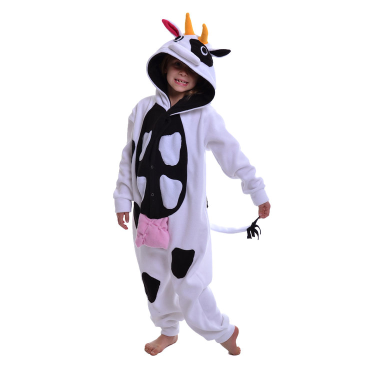Kids Animal Onesie - Cow (Jumpsuit, Costume, Kigurumi) by aFREAKA Clothing