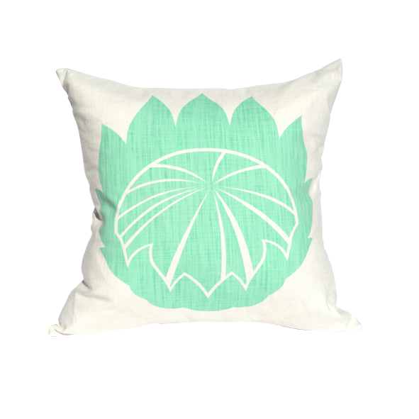 """Giant King"" cushion cover in aqua by i Spy"