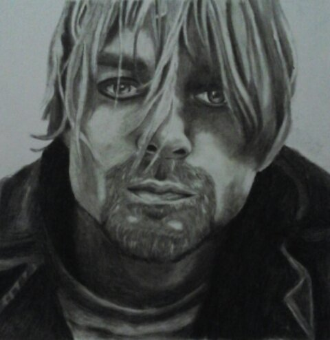 Charcoal drawing, Kurt Cobain, A3 size by Nevermind art