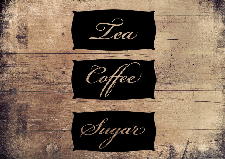 Tea, coffee & sugar labels by Sweet Pea Decor