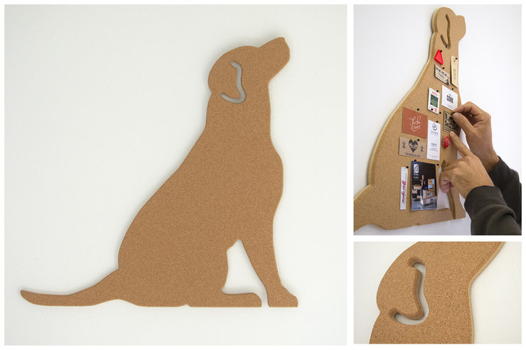 getCork Labrador shaped pin board by get cork