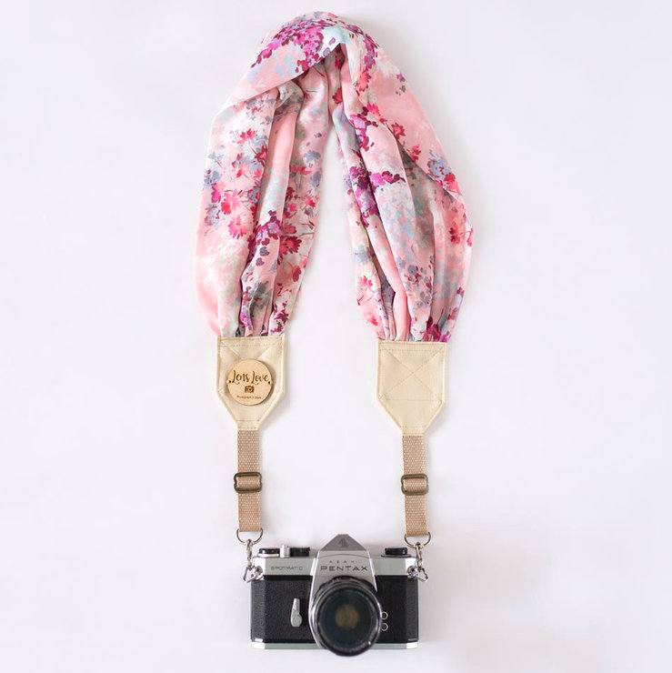 Noa {Pink} Camera Strap by Lens Love