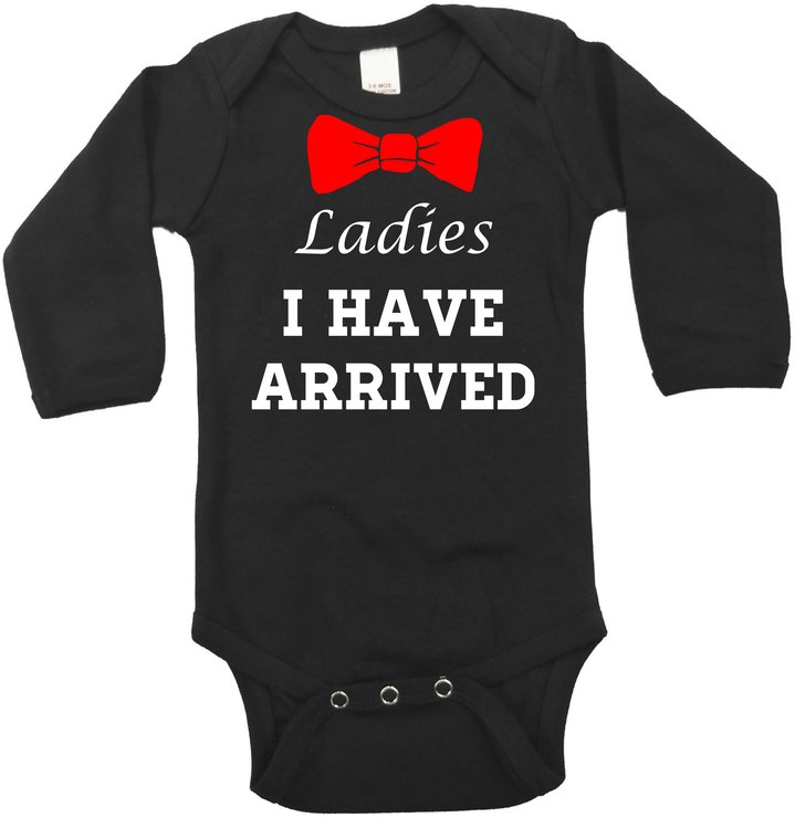 Ladies I have arrived black baby grow by Qtees Africa (Pty)Ltd
