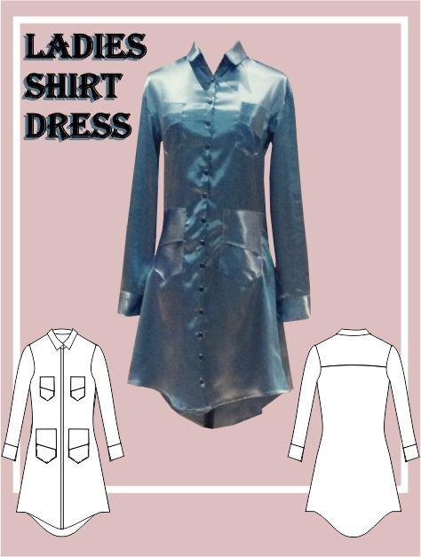 Sewing Pattern: Ladies Shirt Dress  by My Sewing Patterns
