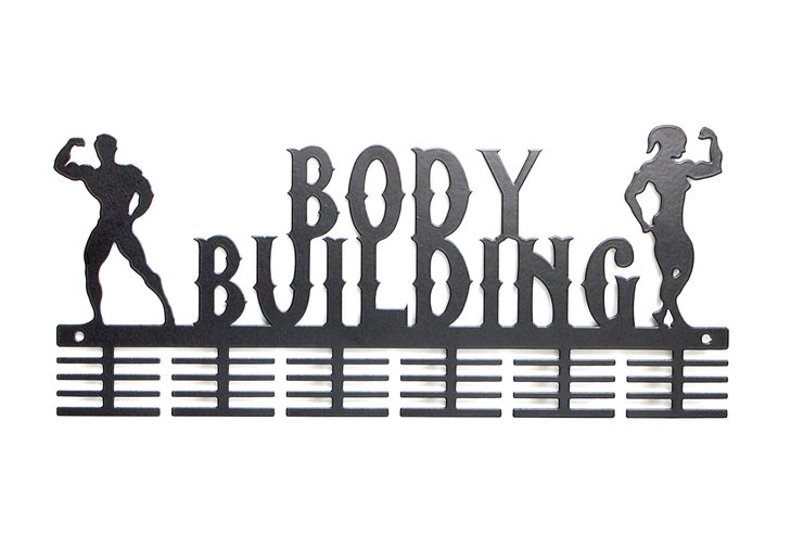Man & Lady body building medal hanger in Black by Medal Hanger & Home Décor Specialists - DC Designers