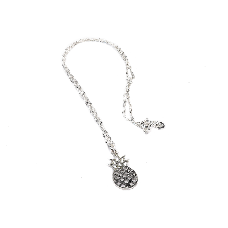 925 Sterling Silver Pineapple Xpress Necklace by Lakota Inspirations