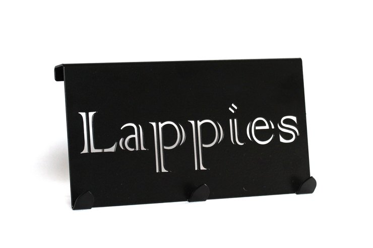 Lappies Dish Cloth Hanger - Black by DC Designers Medal Hanger Specialists