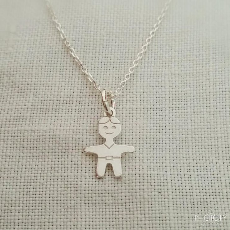Sterling silver boy necklace by GloveJewellery