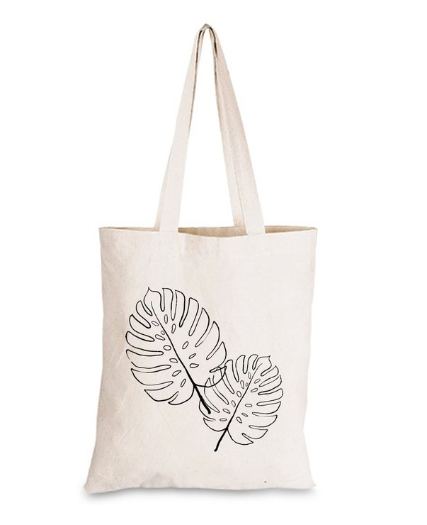 delicious monster palm leaf 100% Cotton Tote bag shopper gift  by Love & Sparkles