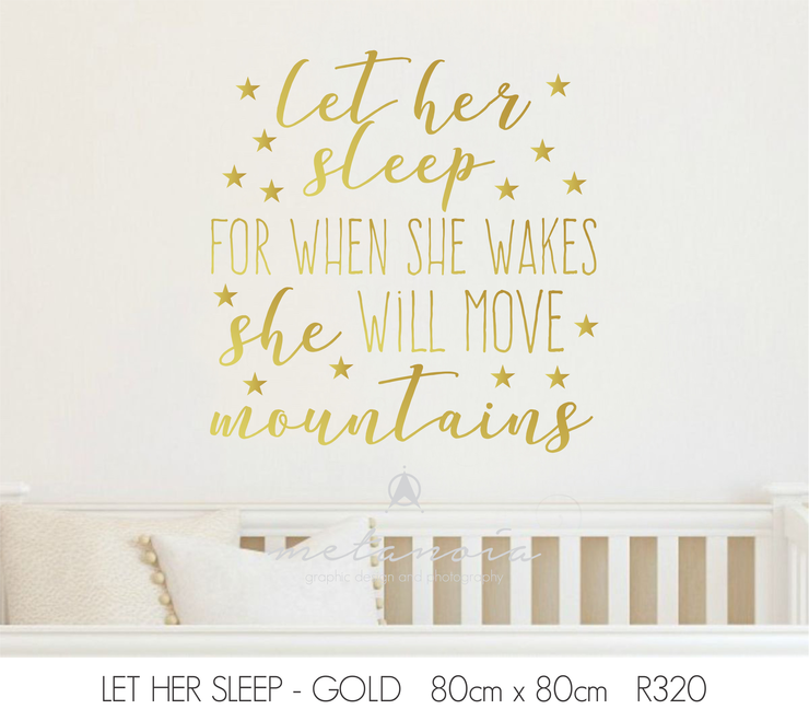 Nursery Wall Quote by Metanoia Graphic Design