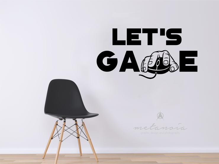 Lets Game - Video game vinyl decal by Metanoia Graphic Design