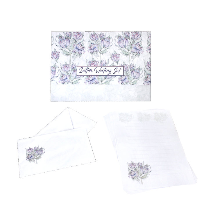 LAVENDER CAMELIA WRITING SET  by Timeless Memories