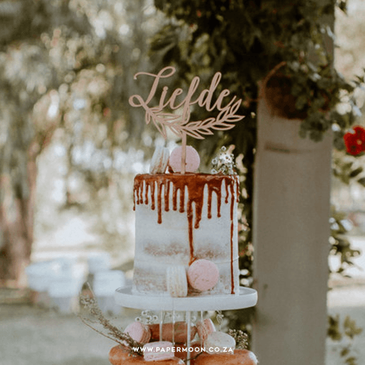 Liefde Cake Topper by Papermoon
