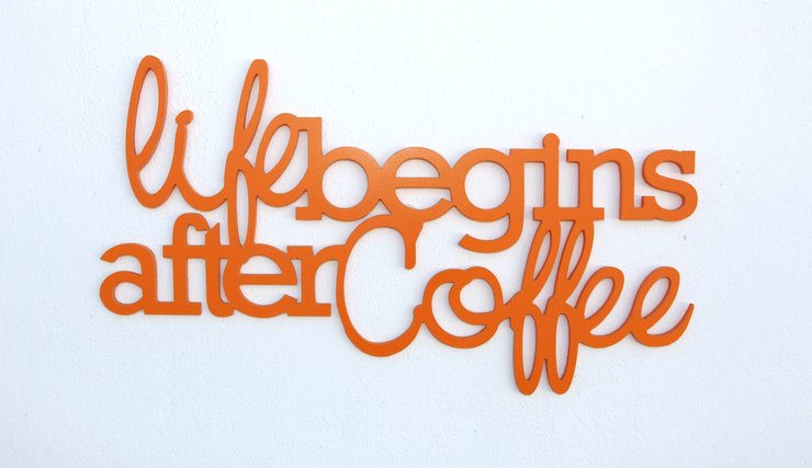 Life begins after coffee by Bokke & Blomme