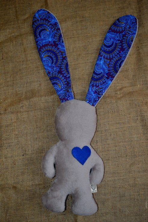 Light Brown and Royal Blue African Love Bunny by Liebe Kids