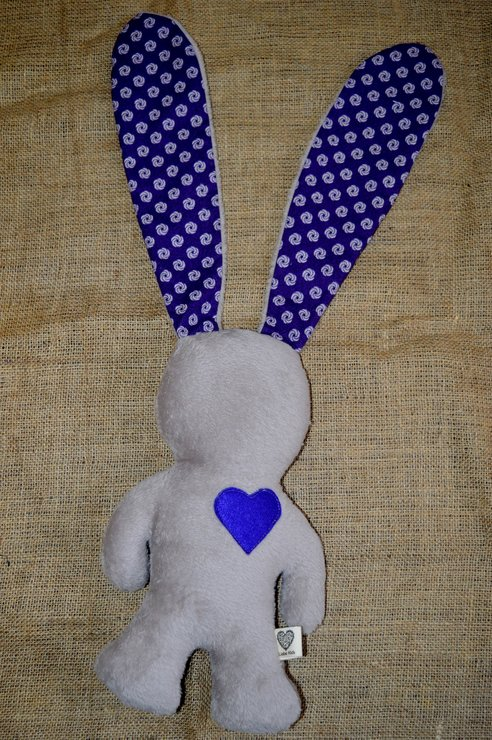Light Brown and Purple African Love Bunny by Liebe Kids