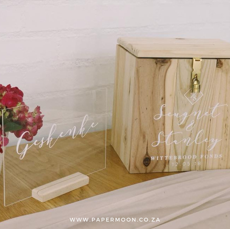 light wood personalized wooden card box hello pretty buy design