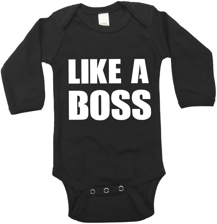 Like a boss black baby grow by Qtees Africa (Pty)Ltd