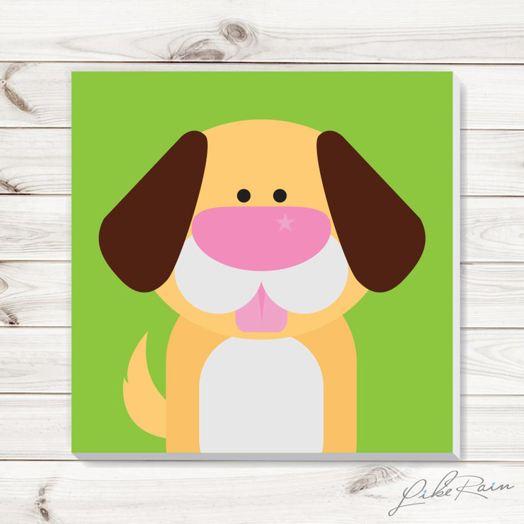 Puppy Love - Canvas Print by Like Rain Productions
