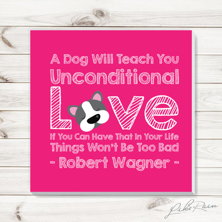 Unconditional Doggy Love - Canvas Print by Like Rain Productions
