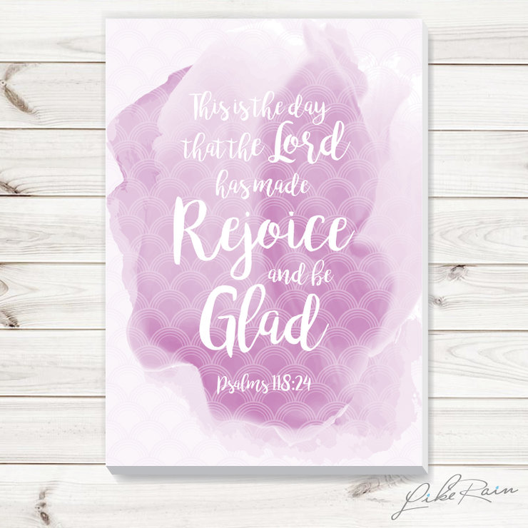 Rejoice and be Glad - Canvas Print by Like Rain Productions